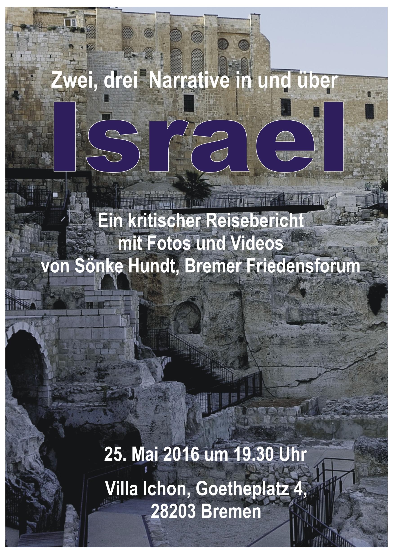 Zwei, drei Narrative in und über Israel @ Villa Ichon | Bremen | Bremen | Deutschland
