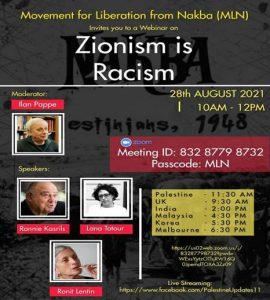 """""""Zionism is Racism"""" - Webinar von Kairos Palestine @ Webinar"""